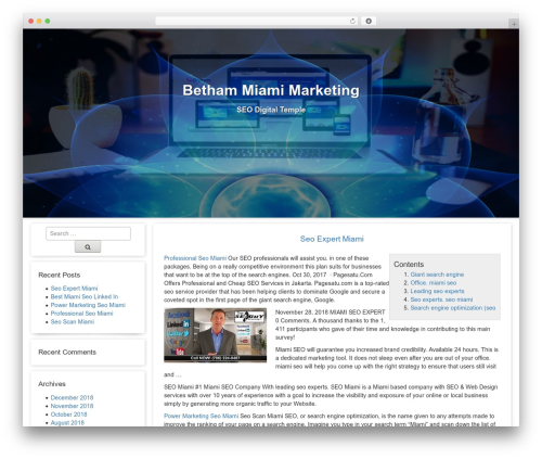 WP template Free Template - betham-miami.org