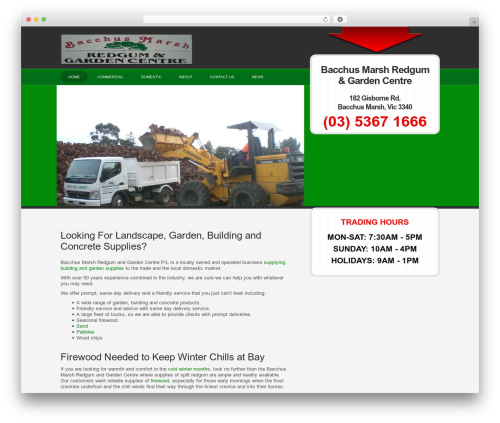 WPLeadPro landscaping WordPress theme - bacchusmarshredgumgardencentre.com.au