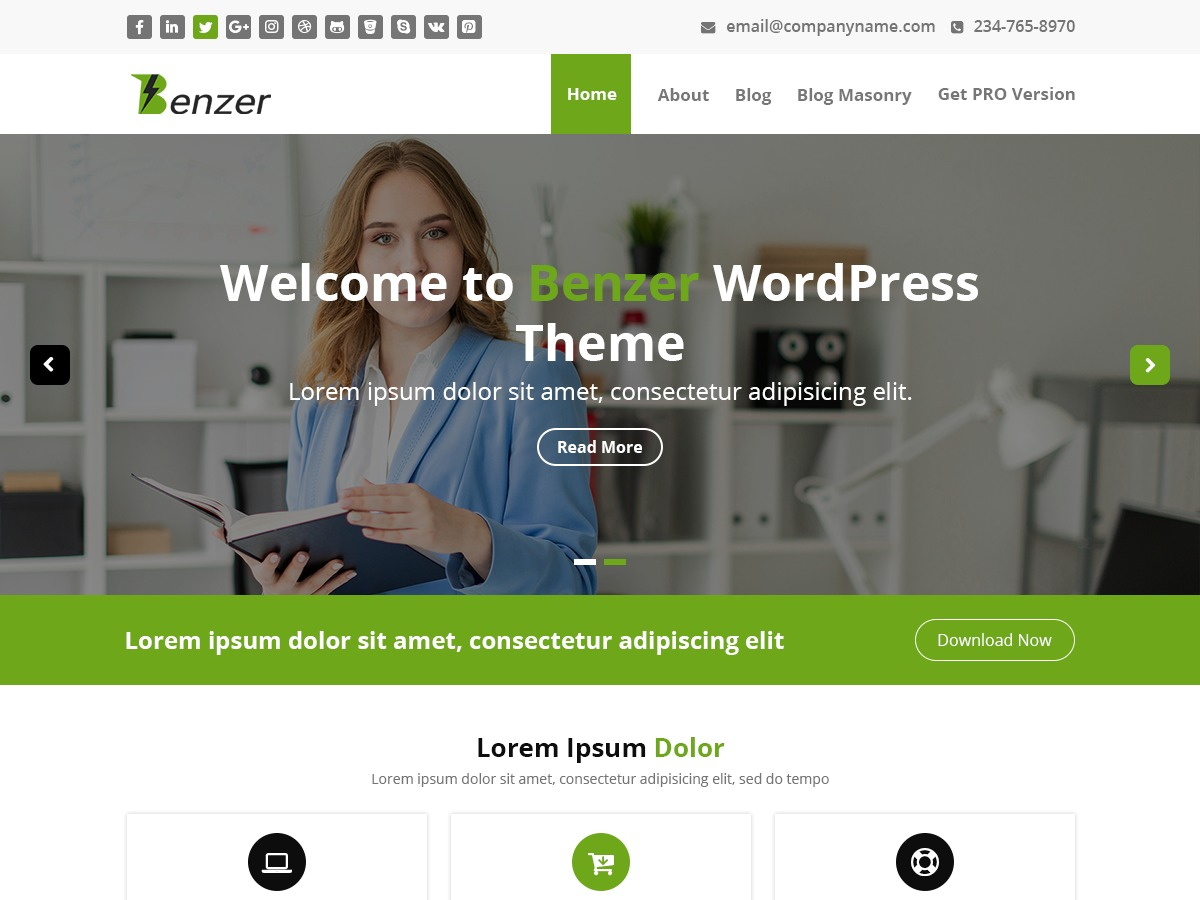 Benzer theme WordPress