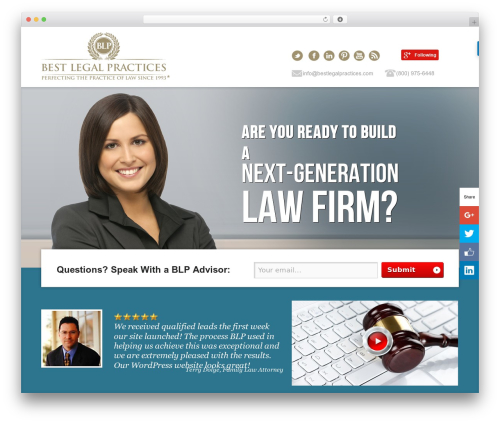 Best Legal Practices WordPress page template - bestlegalpractices.com