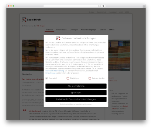 Canvas best WordPress theme - bagel-direkt.de