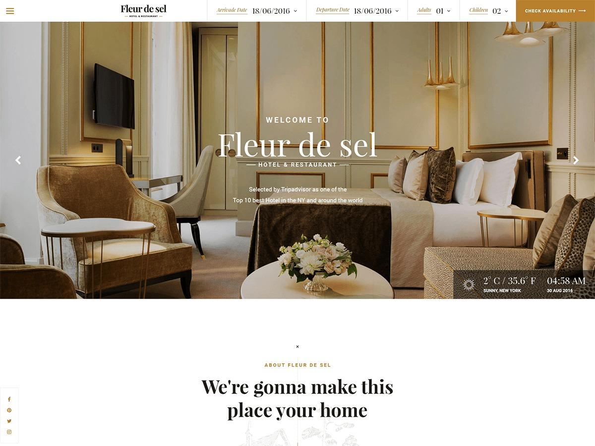 Fleurdesel WordPress theme