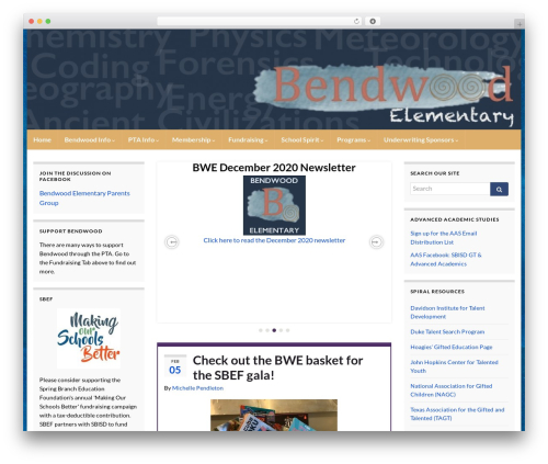 Graphene WordPress template - bendwoodpta.com