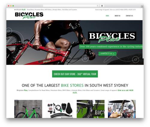Subway top WordPress theme - bicyclesplus.com.au