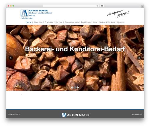 Theme WordPress Mayer - baeckereigrosshandel.de
