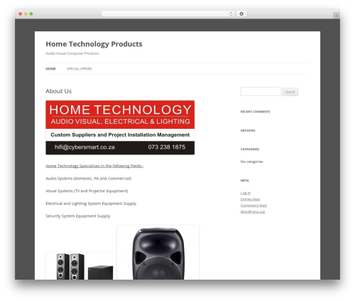 Theme WordPress Twenty Twelve - hometechnology.co.za