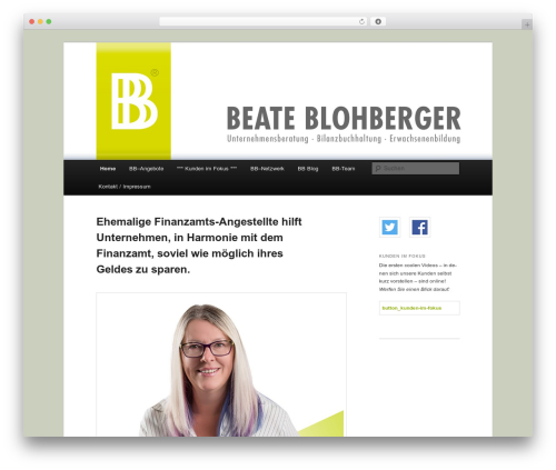 Twenty Eleven template WordPress - bb-unternehmensberatung.at
