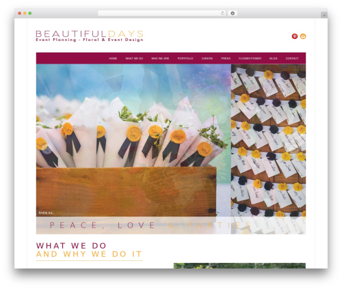 Twenty Twelve WordPress template free - beautifuldaysevents.com