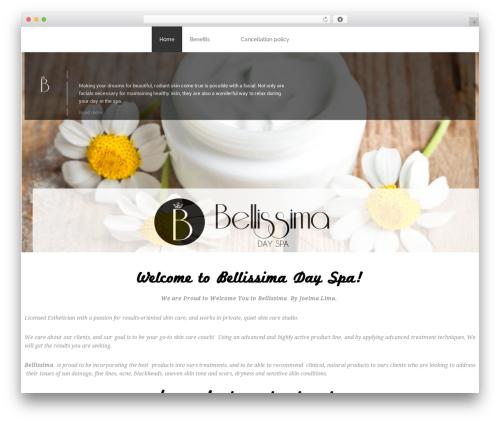 WordPress theme Bellissima - bellissimadayspa.us