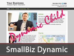 WordPress theme Smallbiz Dynamic Child