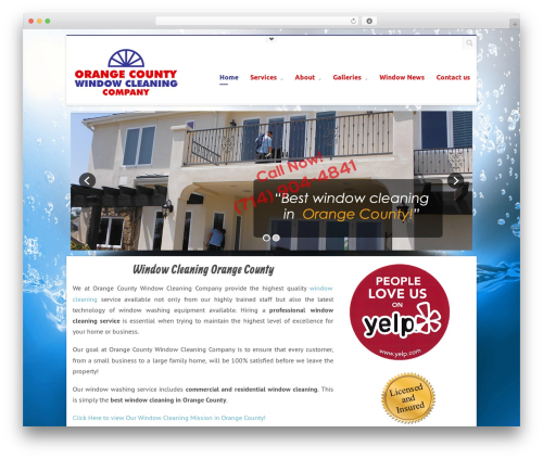 WordPress website template Terso - bestocwindowcleaning.com