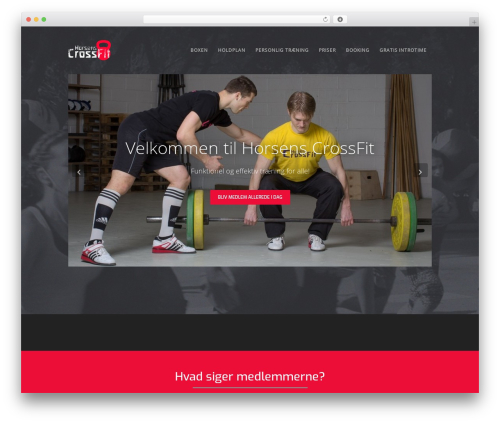 Workout template WordPress - horsenscrossfit.dk