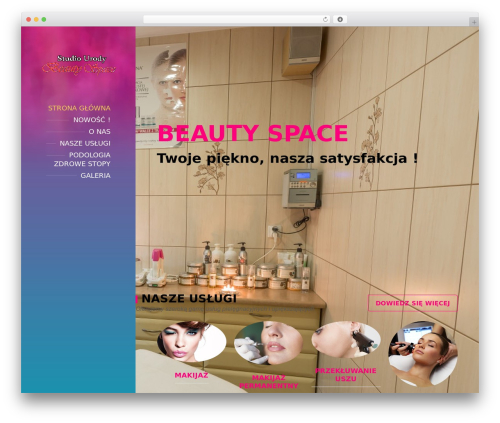 BeautySpot WordPress theme - beauty-space.eu