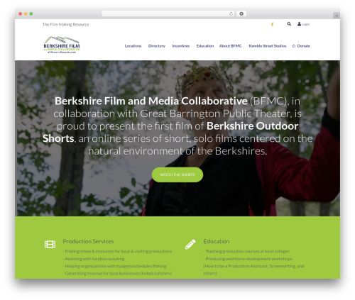 Berkshire Film - Indigo Child WordPress theme - berkshirefilm.com