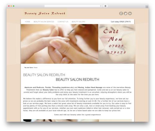 Catalyst WordPress theme - beautysalonredruth.co.uk