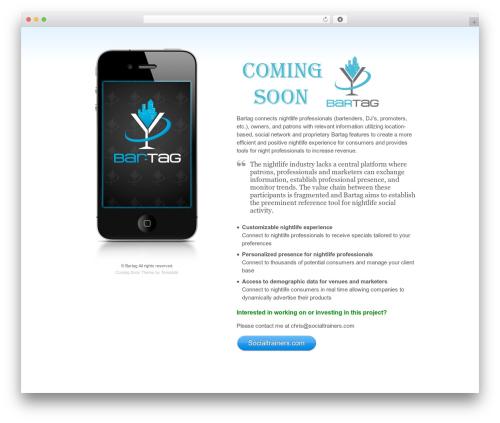 Coming Soon WordPress theme - bar-tag.com