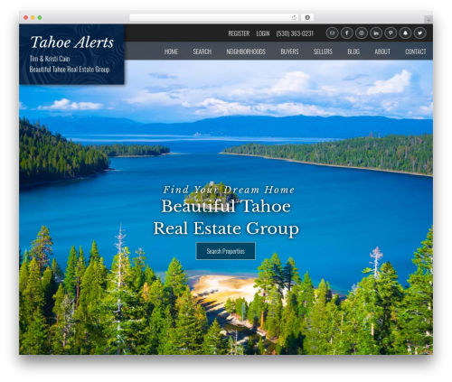 IDXCentral (Austin) real estate WordPress theme - beautifultahoe.com