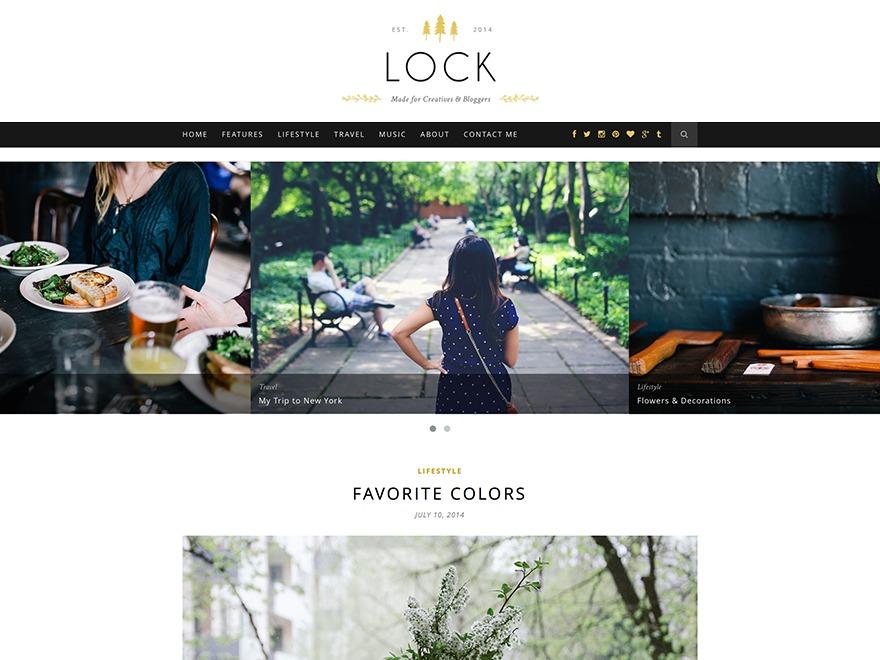 Lock WordPress blog template