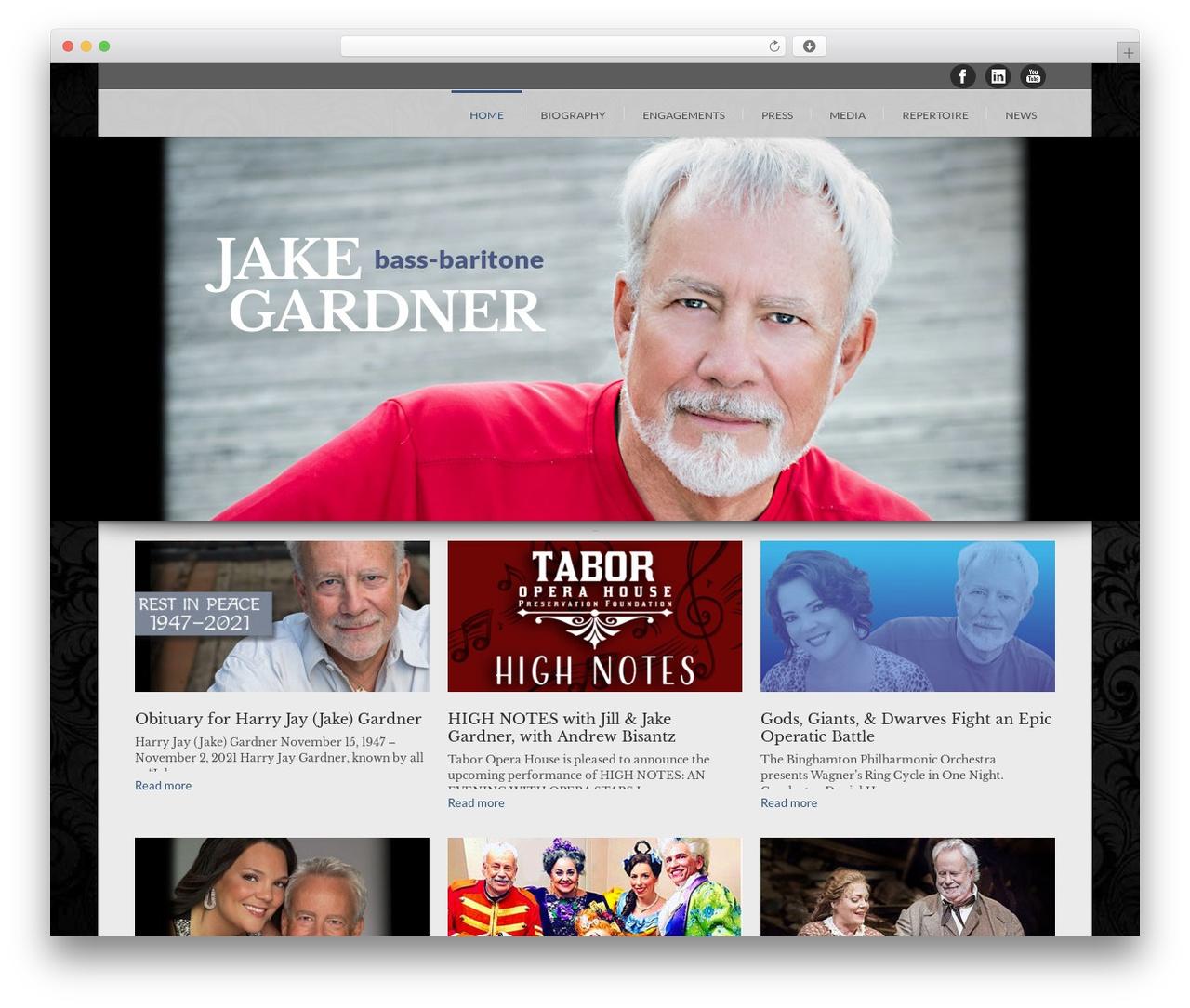 Lounge premium WordPress theme - bassbaritonejakegardner.com