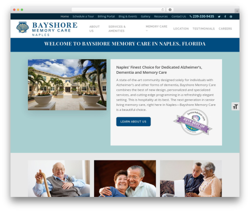 Free WordPress WP Accessibility plugin - bayshorememorycare.com