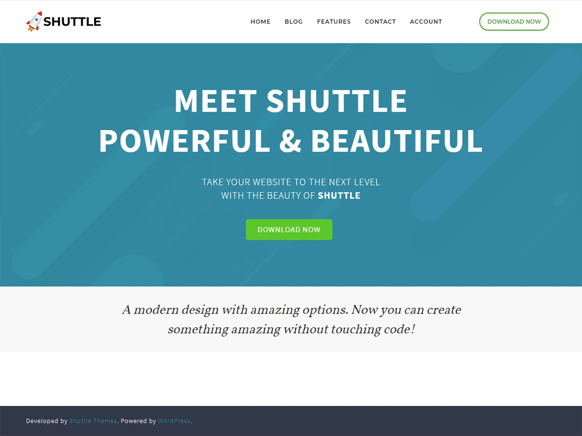 Shuttle WordPress theme