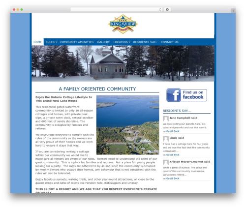 Template WordPress Genesis - balsamlakecottage.ca