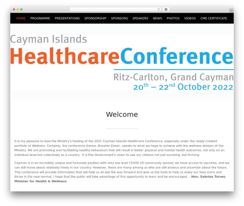 WordPress theme Conference Child Theme - healthcareconference.ky