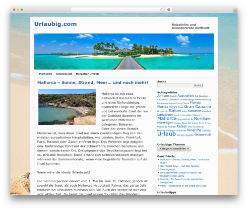 2010 Weaver WordPress theme - urlaubig.com