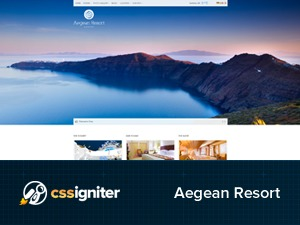 Aegean Resort WordPress hotel theme