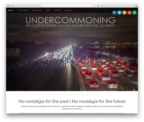 Arcade Basic best free WordPress theme - undercommoning.org