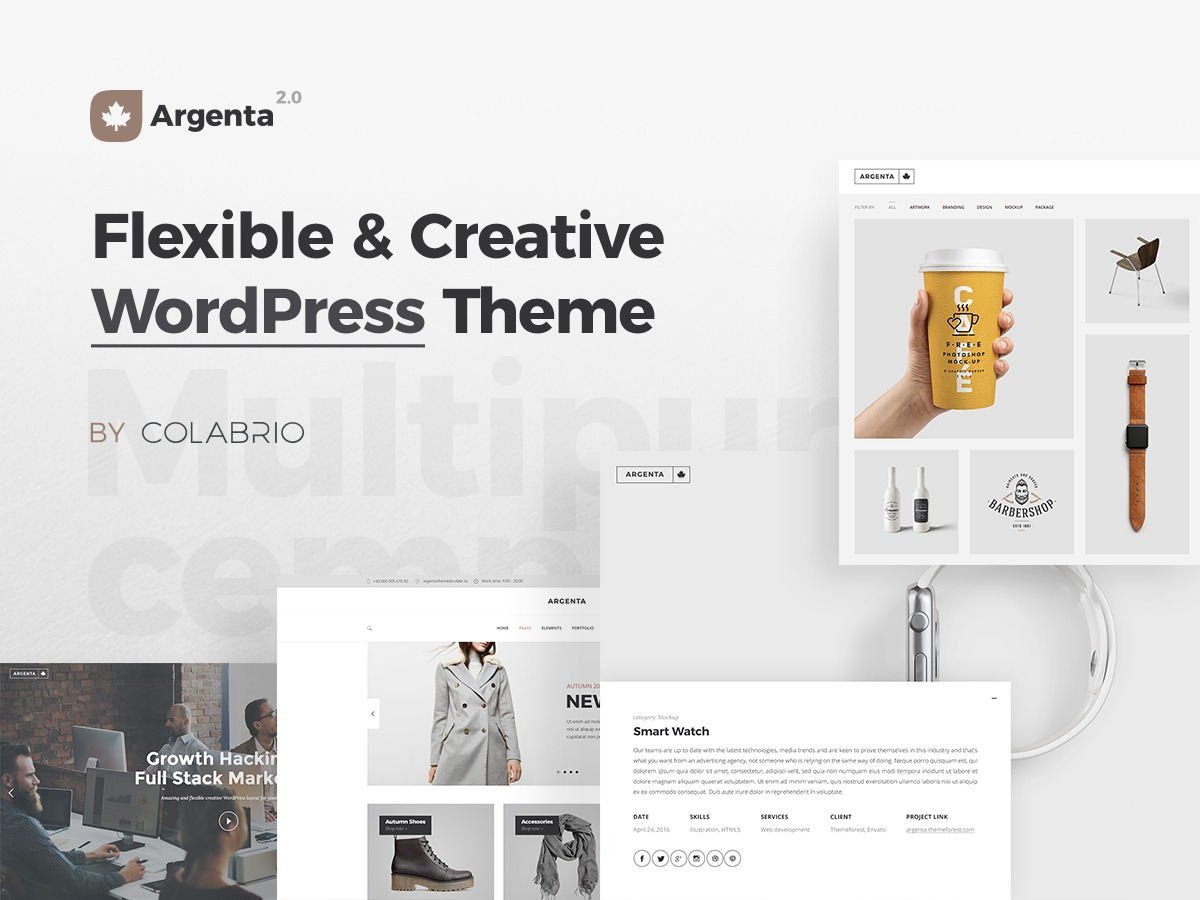 Argenta best WordPress theme