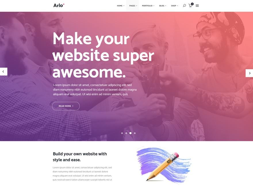 Arlo company WordPress theme