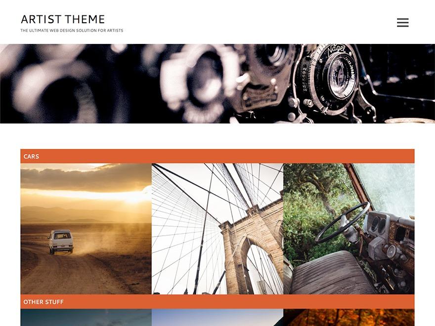 Artist Lite WordPress portfolio template