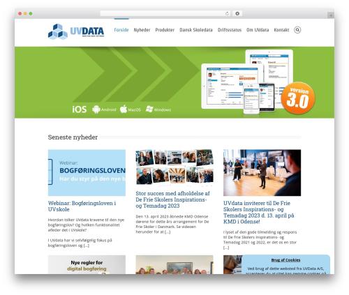 Avada WordPress page template - uvdata.dk