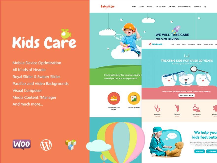 Best WordPress template KidsCare