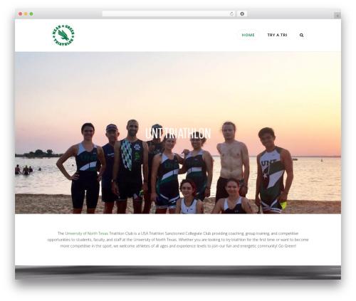 Best WordPress template X - unttriathlonclub.com
