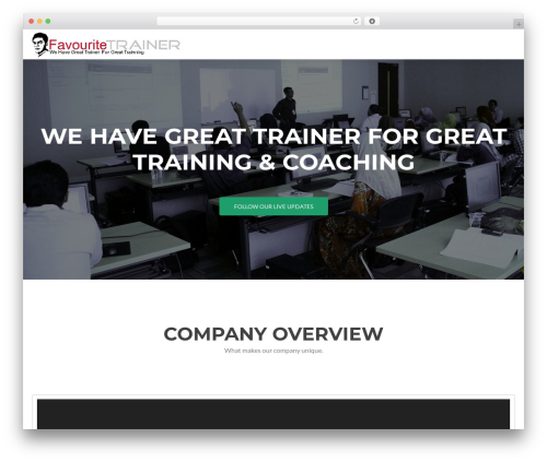 Best WordPress theme Zerif Lite - favouritetrainer.com