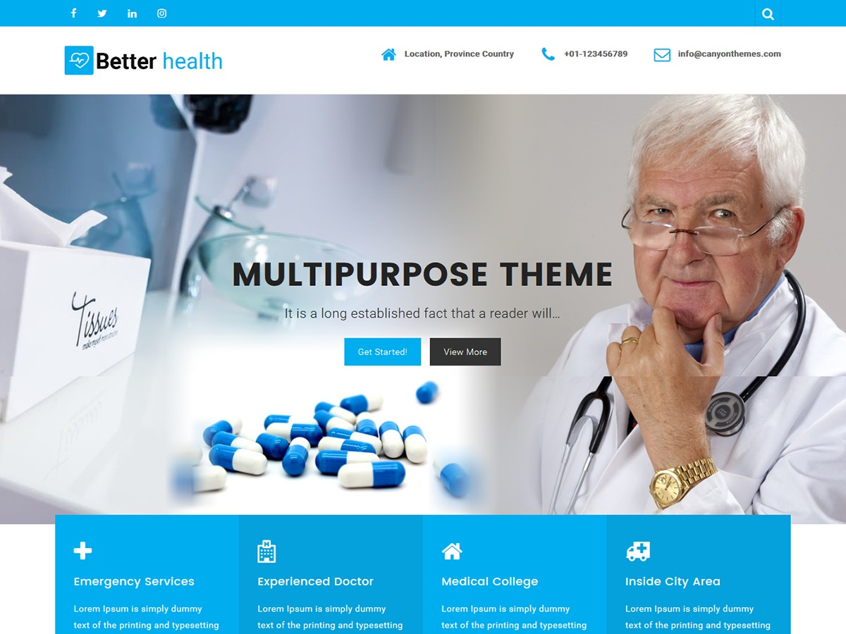 Better Health free website theme