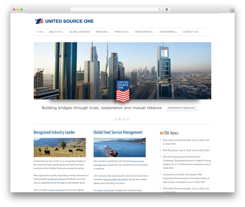 Cleanex WordPress page template - unitedsourceone.com
