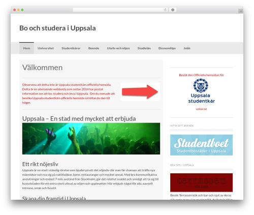 Coller theme WordPress - uppsalastudentkar.nu