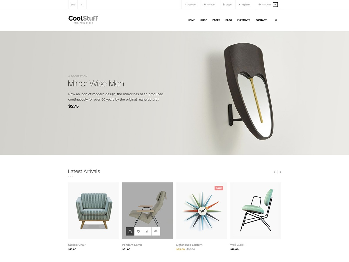 CoolStuff WordPress ecommerce template