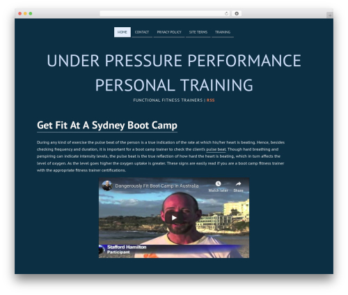 Deep Sea template WordPress free - under-pressure-performance.com