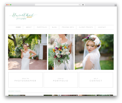 Everett Mae Child Theme photography WordPress theme - unearthedphotography.com