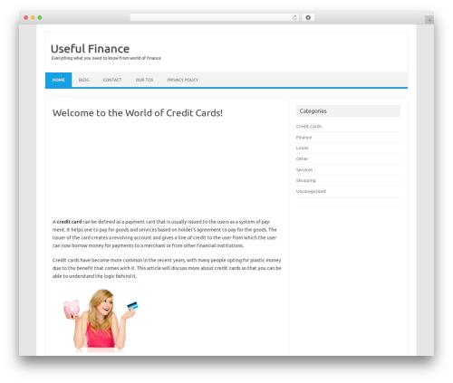 Iconic One best WordPress template - usefulfinance.com