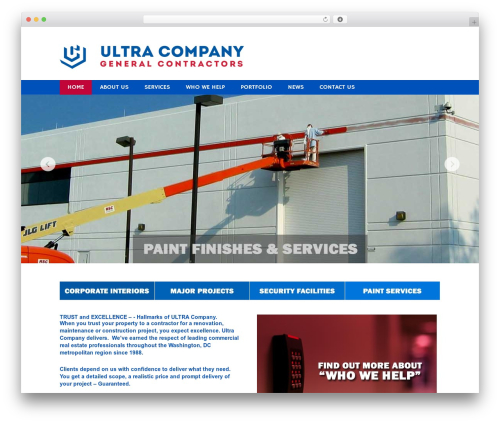 Impression theme WordPress template for business - ultracompany.us