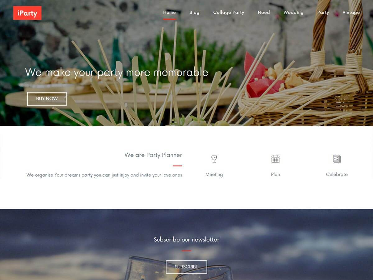 iParty business WordPress theme