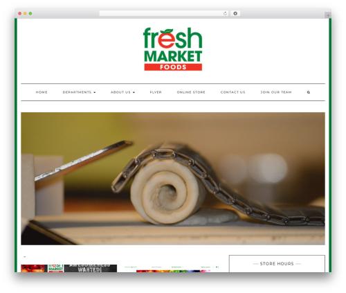 Kale free WP theme - freshmarketfoods.ca