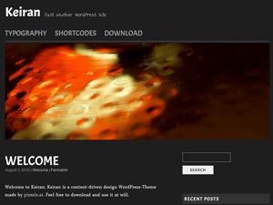 Keiran WordPress blog template