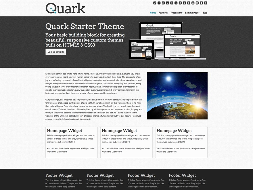 Quark Child WordPress theme