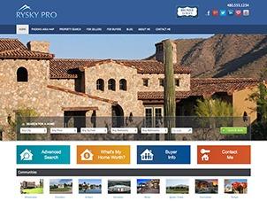 Rysky Pro WordPress page template